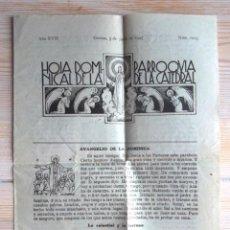 Coleccionismo de Revistas y Periódicos: HOJA DOMINICAL DE LA PARROQUIA DE LA CATEDRAL GERONA 3 DE JUNIO DE 1945 BON ESTAT GIRONA RELIGIÓ. Lote 61581656