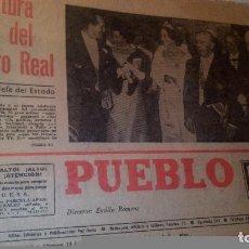 Coleccionismo de Revistas y Periódicos: ANTIGUO PERIODICO PUEBLO FRANCISCO FRANCO. Lote 61685044