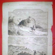Coleccionismo de Revistas y Periódicos: GRABADO-CAMINO Y SITIO DE LA SILLA DE FELIPE II - LA ILUSTRACION ESPAÑOLA Y AMERICANA.. Lote 61704156