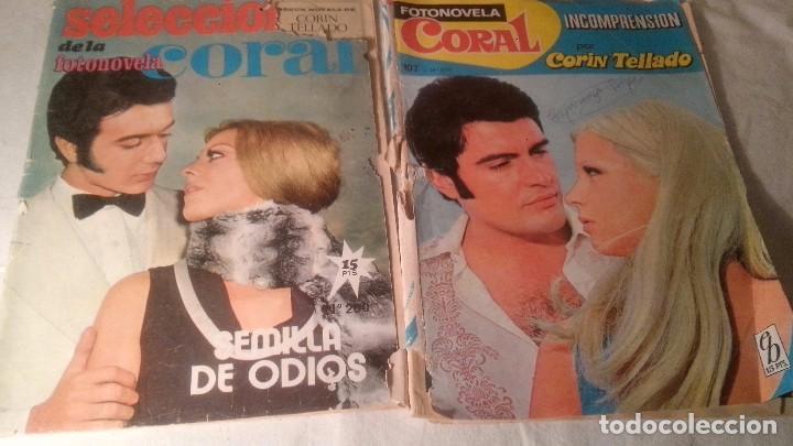 Coleccionismo de Revistas y Periódicos: 3 ANTIGUAS REVISTAS FOTONOVELAS CORIN TELLADO Y CORAL - Foto 3 - 62014376