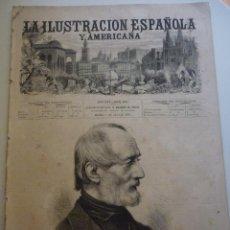 Coleccionismo de Revistas y Periódicos: LA ILUSTRACIÓN ESPAÑOLA Y AMERICANA. AÑO 1872. NÚMERO XIII. Lote 62171388