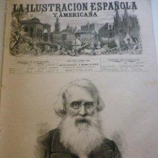 Coleccionismo de Revistas y Periódicos: LA ILUSTRACIÓN ESPAÑOLA Y AMERICANA. AÑO 1872. NÚMEROXIX. Lote 62171464