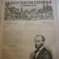 Coleccionismo de Revistas y Periódicos: LA ILUSTRACIÓN ESPAÑOLA Y AMERICANA. AÑO 1872. NÚMERO XXVI. Lote 62171628
