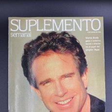 Coleccionismo de Revistas y Periódicos: REVISTA SUPLEMENTO SEMANAL Nº 228 - 8 DE MARZO DE 1992. WARREN BEATTY. Lote 62220228
