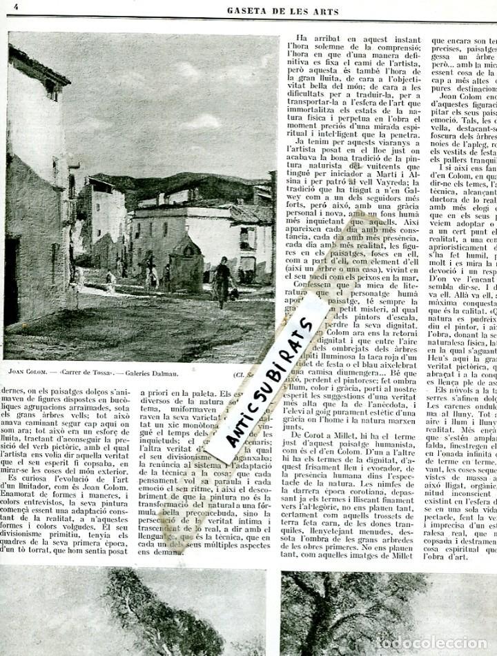 REVISTA ANY 1925 JOAN COLOM PINTOR DE TOSSA DE MAR FREDERIC MASVILA FREDERIC MARES (Coleccionismo - Revistas y Periódicos Antiguos (hasta 1.939))