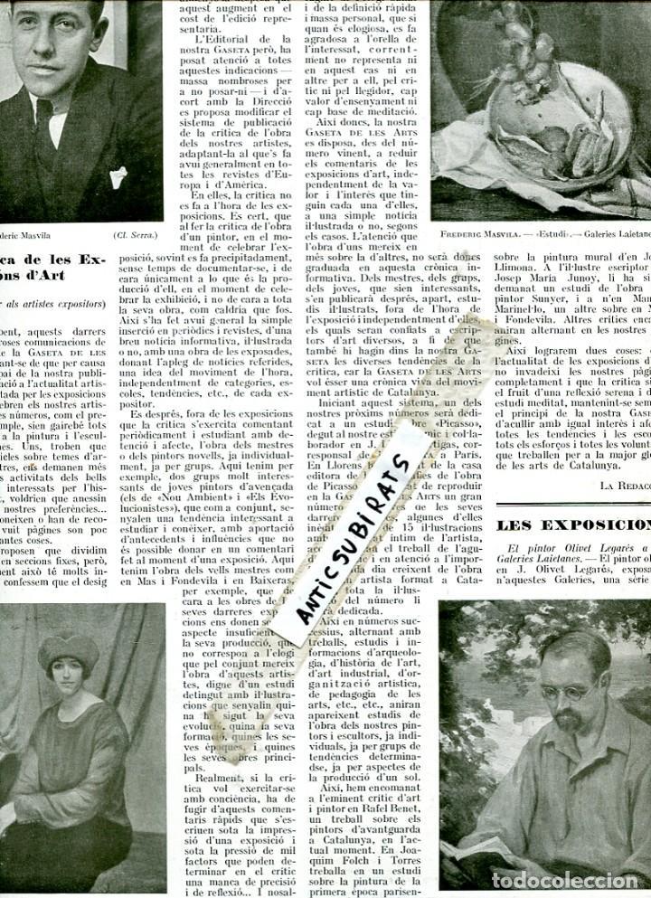 Coleccionismo de Revistas y Periódicos: REVISTA ANY 1925 JOAN COLOM PINTOR DE TOSSA DE MAR FREDERIC MASVILA FREDERIC MARES - Foto 2 - 62240508