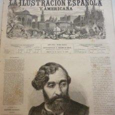 Coleccionismo de Revistas y Periódicos: LA ILUSTRACIÓN ESPAÑOLA Y AMERICANA. AÑO 1872. NÚMERO XXXII. Lote 62244644