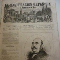 Coleccionismo de Revistas y Periódicos: LA ILUSTRACIÓN ESPAÑOLA Y AMERICANA. AÑO 1872. NÚMERO XXXIII. Lote 62244732