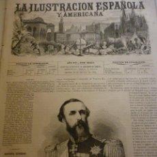Coleccionismo de Revistas y Periódicos: LA ILUSTRACIÓN ESPAÑOLA Y AMERICANA. AÑO 1872. NÚMERO XXXIX. Lote 62245308