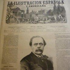 Coleccionismo de Revistas y Periódicos: LA ILUSTRACIÓN ESPAÑOLA Y AMERICANA. AÑO 1872. NÚMERO XLI. Lote 62245584