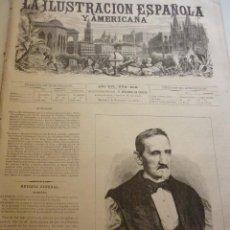 Coleccionismo de Revistas y Periódicos: LA ILUSTRACIÓN ESPAÑOLA Y AMERICANA. AÑO 1872. NÚMERO XLII. Lote 62245676