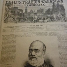 Coleccionismo de Revistas y Periódicos: LA ILUSTRACIÓN ESPAÑOLA Y AMERICANA. AÑO 1872. NÚMERO XLIII. Lote 62245784