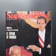 Coleccionismo de Revistas y Periódicos: REVISTA SUPLEMENTO SEMANAL Nº 159 - 11 DE NOV. DE 1990. ALBERTO DE MÓNACO, MADRID, JESÚS PUENTE.... Lote 62306792