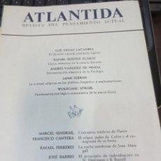 Coleccionismo de Revistas y Periódicos: ATLANTIDA REVISTA DEL PENSAMIENTO ACTUAL Nº 9 EDIT RIOALP MAYO-JUNIO 1964. Lote 62358984