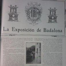 Colecionismo de Revistas e Jornais: BADALONA 1910.EXPOSICION,FÁBRICA ANIS DEL MONO,GALLETAS LA GLORIA,DOMÉNÉCH, CARBONELL, SURROCA. Lote 62400824