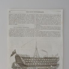 Coleccionismo de Revistas y Periódicos: HOJA-GRABADO REVISTA ORIGINAL 1856. BARCO SEAMEN'S HOSPITAL, HACIA GREENWICH. Lote 62427708