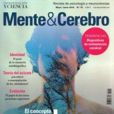 Coleccionismo de Revistas y Periódicos: MENTE & CEREBRO N. 78 MAYO/JUNIO 2016 - EN PORTADA: EL CONCEPTO DEL ALMA (NUEVA). Lote 62500796