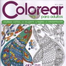 Coleccionismo de Revistas y Periódicos: COLOREAR PARA ADULTOS N. 1 - COLOREAR DISTRAE, ES RELAJANTE Y MEJORA LA CONCENTRACION (NUEVA). Lote 168555537