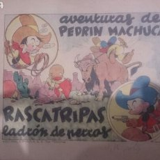 Coleccionismo de Revistas y Periódicos: TEBEO MUY ANTIGUO AVENTURAS DE PEDRIN MACHUCA. Lote 62586240