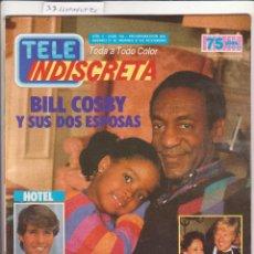 Coleccionismo de Revistas y Periódicos: TELEINDISCRETA Nº 145 CONSERVA LOS CROMOS EN PAGINAS CENTRALES FALTAN PAGINAS. Lote 140217849