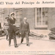 Coleccionismo de Revistas y Periódicos: EL PRÍNCIPE DE ASTURIAS EN LA SOCIEDAD ANÓNIMA LAVIANA DE GIJÓN -1925. Lote 62787336