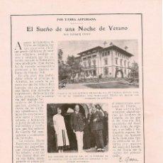 Coleccionismo de Revistas y Periódicos: * GRANDA, GIJÓN * PALACIO DE LOS SRES. DE GARCÍA SOL, FIESTA AL PRÍNCIPE DE ASTURIAS -1925. Lote 62787748