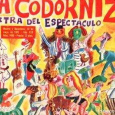 Coleccionismo de Revistas y Periódicos: LA CODORNIZ Nº 1486 EXTRA ESPECTACULO (1970). Lote 62800624