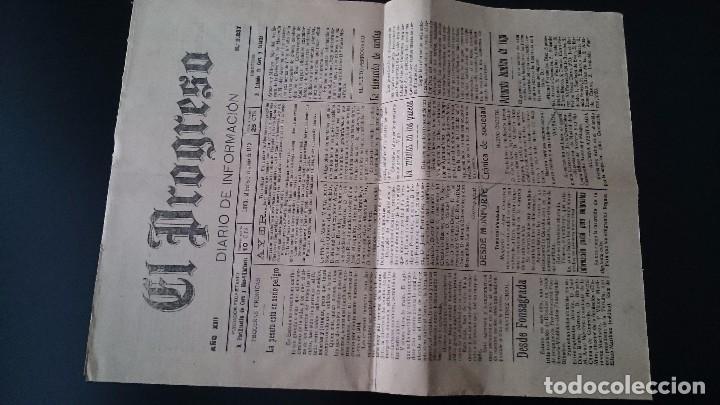 EL PROGRESO DIARIO DE INFORMACIÓN LUGO MIÉRCOLES 9 DE JUNIO DE 1920 AÑO XIII N 3837 (Coleccionismo - Revistas y Periódicos Antiguos (hasta 1.939))