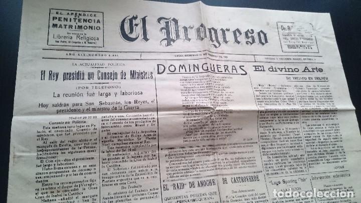 EL PROGRESO DIARIO LUGO DOMINGO 21 DE FEBRERO DE 1926 AÑO XIX N 5691 - EL REY PRESIDIO UN CONSEJO.. (Coleccionismo - Revistas y Periódicos Antiguos (hasta 1.939))
