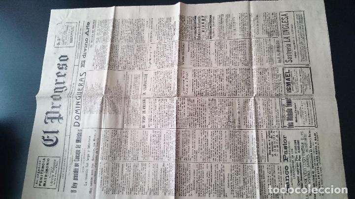 Coleccionismo de Revistas y Periódicos: EL PROGRESO DIARIO LUGO DOMINGO 21 DE FEBRERO DE 1926 AÑO XIX N 5691 - EL REY PRESIDIO UN CONSEJO.. - Foto 2 - 62886304