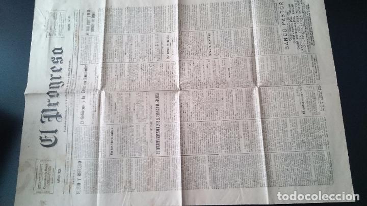 Coleccionismo de Revistas y Periódicos: EL PROGRESO DIARIO LUGO MART 16 DE AGOSTO DE 1927 AÑO XX N 6141 EL GOBIERNO Y LA CORTE EN SANTANDER - Foto 2 - 62887072