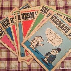 Coleccionismo de Revistas y Periódicos: HERMANO LOBO, LOTE DE 9 REVISTAS.. Lote 62903875