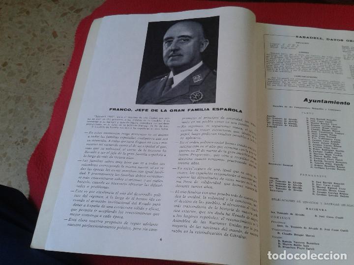 Coleccionismo de Revistas y Periódicos: INTERESANTE Y ESCASO LIBRO GUIA SABADELL 1967 ASPECTOS DE LA VIDA SABADELLENSE. FRANCO. IDEAL COLECC - Foto 3 - 63120328