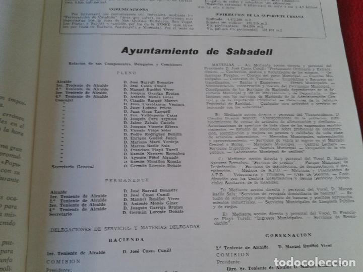 Coleccionismo de Revistas y Periódicos: INTERESANTE Y ESCASO LIBRO GUIA SABADELL 1967 ASPECTOS DE LA VIDA SABADELLENSE. FRANCO. IDEAL COLECC - Foto 4 - 63120328