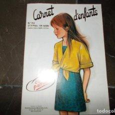 Coleccionismo de Revistas y Periódicos: MODA Y PATRONES CARNET D'ENFANTS. Lote 63167980