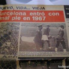 Coleccionismo de Revistas y Periódicos: REVISTA RB BARÇA BARCELONA Nº92 NUMERO ENERO 1967 EL VALENCIA ARREBATO LA ALEGRIA AL BARCELONA 0 - 3. Lote 63272640
