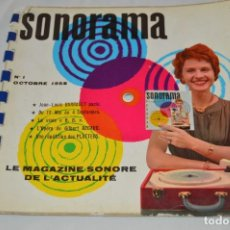 Coleccionismo de Revistas y Periódicos: REVISTA SONORAMA - SONORAMA Nº 1 - REVISTA FRANCESA CON DISCOS - MUY ANTIGUA. Lote 63341320