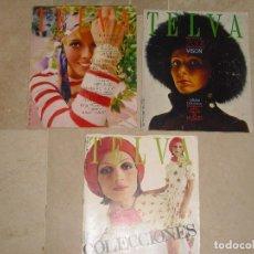 Coleccionismo de Revistas y Periódicos: LOTE TRES REVISTAS TELVA AÑ0 1970 Y 1972. Lote 63365984
