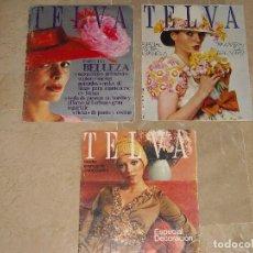 Coleccionismo de Revistas y Periódicos: LOTE TRES REVISTAS TELVA AÑO 1972 Y 1973. Lote 63366284