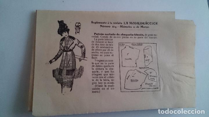 Coleccionismo de Revistas y Periódicos: LA MODA PRÁCTICA FÉMINA ILUSTRADA AÑO VII NUM 324 - 11 DE MARZO DE 1914 MADRID - Foto 7 - 63398964