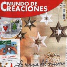 Coleccionismo de Revistas y Periódicos: MUNDO DE CREACIONES N. 21 - EN PORTADA: LA MAGIA DEL INVIERNO (NUEVA). Lote 63442172
