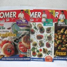 Coleccionismo de Revistas y Periódicos: COMER CADA DÍA - LOTE DE TRES REVISTAS DE COCINA DE 1995. Lote 63544904