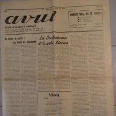 Coleccionismo de Revistas y Periódicos: DIARI DE REUS - AVUI ANY 1935 MOLT BON ESTAT AMB MOLTS ANUNCIS DE L'EPOCA. Lote 63693079