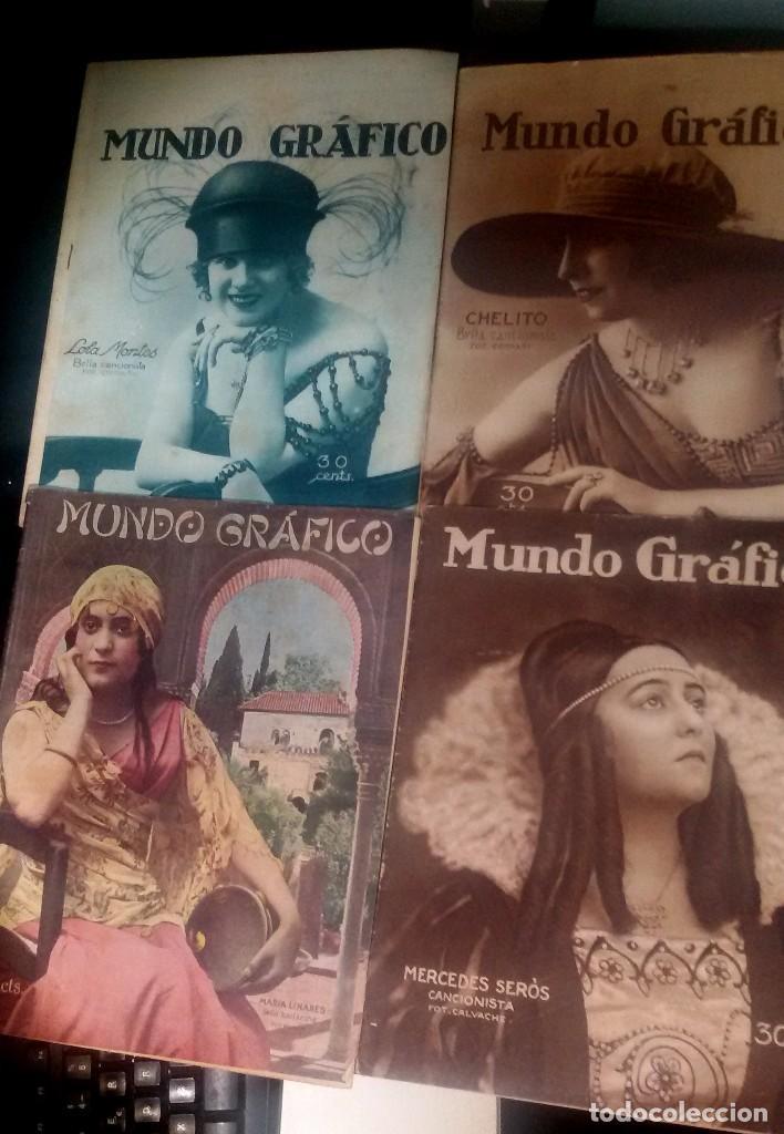 LOTE DE 4 MUNDO GRÁFICO EN BUEN ESTADO VER FOTOS (Coleccionismo - Revistas y Periódicos Antiguos (hasta 1.939))