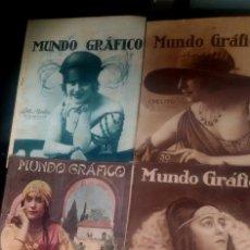 Coleccionismo de Revistas y Periódicos: LOTE DE 4 MUNDO GRÁFICO EN BUEN ESTADO VER FOTOS. Lote 63705735