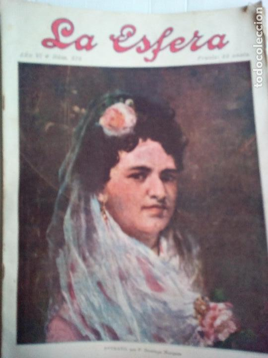 LA ESFERA Nº278 AÑO 1919 CUADROS FRANCISCO DOMINGO-MONASTERIO EL PAULAR-IGLESIA S.SEBASTIAN MADRID (Coleccionismo - Revistas y Periódicos Antiguos (hasta 1.939))