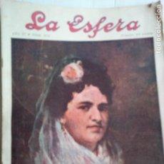 Coleccionismo de Revistas y Periódicos: LA ESFERA Nº278 AÑO 1919 CUADROS FRANCISCO DOMINGO-MONASTERIO EL PAULAR-IGLESIA S.SEBASTIAN MADRID. Lote 63890515