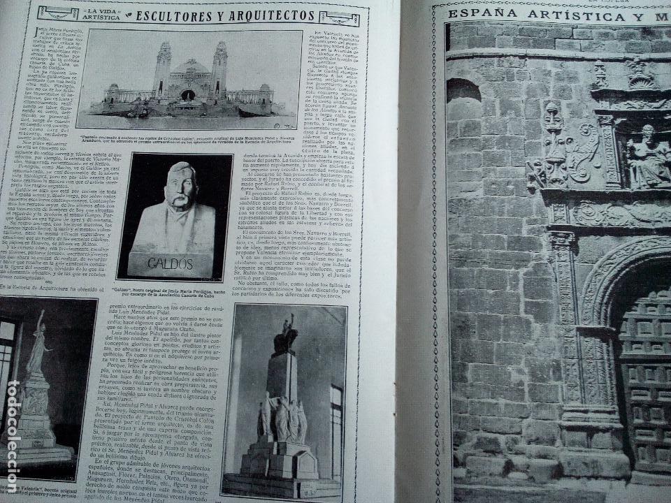 Coleccionismo de Revistas y Periódicos: LA ESFERA Nº278 AÑO 1919 CUADROS FRANCISCO DOMINGO-MONASTERIO EL PAULAR-IGLESIA S.SEBASTIAN MADRID - Foto 5 - 63890515