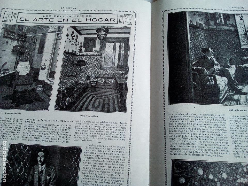 Coleccionismo de Revistas y Periódicos: LA ESFERA Nº278 AÑO 1919 CUADROS FRANCISCO DOMINGO-MONASTERIO EL PAULAR-IGLESIA S.SEBASTIAN MADRID - Foto 6 - 63890515
