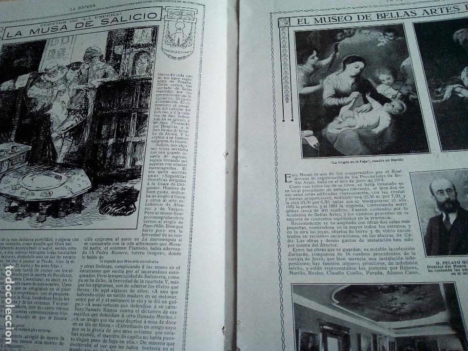 Coleccionismo de Revistas y Periódicos: LA ESFERA Nº275 AÑO 1919 MUSEO DE CADIZ-RELOJES ICONOGRAFICOS-CAPILLA VELEZ MURCIA-MISTINGUETT - Foto 5 - 63891199